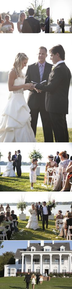Freed Photography MD DC VA Weddings outdoor ceremony by the water