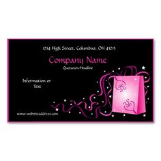 Love Package with Ribbons Business Card. Make your own business card with this great design. All you need is to add your info to this template. Click the image to try it out!