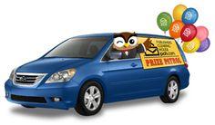 Look who it is! It's Edwin driving the Prize Patrol Van