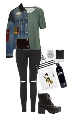 """""""Untitled #1192"""" by mel5-973 ❤ liked on Polyvore featuring Charlotte Russe, Topshop, Acne Studios, Junya Watanabe, H&M, Polaroid and J.Crew"""