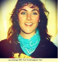 """Laura Branigan 1987, from the Turkish Magazine """"Hey""""."""