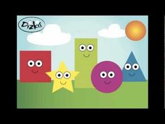 The Shape Song elementary art education video geometric shapes youtube (1:01) a little hard to understand the little girl