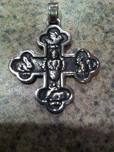 Retired James Avery Resurrection Cross Pendant 925