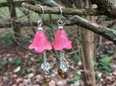 Lucite Flower Earrings by StarOwlStudio on Etsy