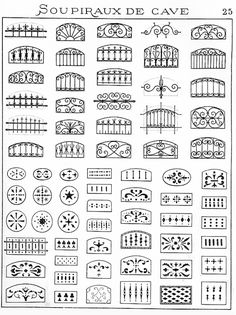 motifs fer forgé - Google Search