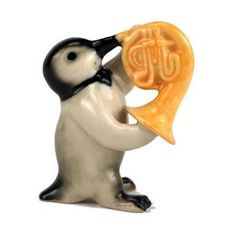 """French Horn Playing Penguin (2 1/4"""" tall)"""