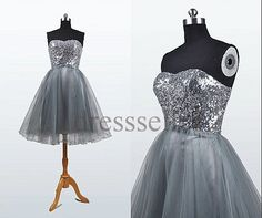 Custom Sequins Short Prom Dresses Ball Gowns Dress Party Wedding Party Dresses Cocktail Dress Bridesmaid Dresses 2014 Evening Dress