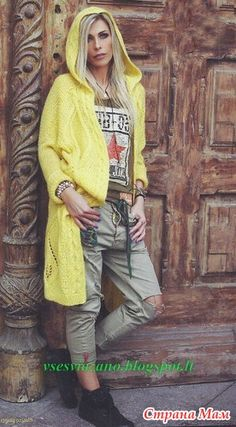 Летнее пальто или длинный жакет - Вязание спицами - Страна Мам