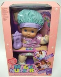 My Magic Nursery Toddler. I received a magic nursery baby for Christmas one year.It became my favorite doll .