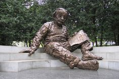 Albert Einstein Memorial, Washington, D.C.  This is my favorite memorial in the city.  It is across the street from the Vietnam Veterans Memorial on Constitution Avenue.    A star map at Einstein's feet is embedded with more than 2,700 metal studs representing the positions of the sun, moon, planets and stars on April 22, 1979 when the memorial was dedicated.