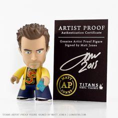 Breaking Bad - Jesse Pinkman TITANS Vinyl Figures, produced by Titan Merchandise (UK), designed by vinyl toy artist Matt Jones aka Lunartik.