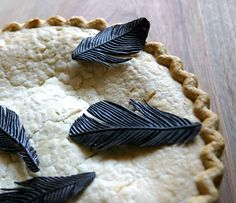 Loving the look of these edible black bird feathers — just think of all the possibilities!