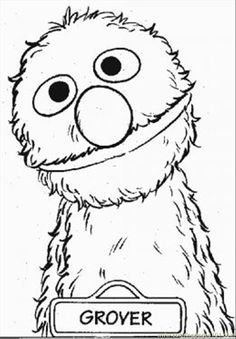 Grover Coloring Book Page