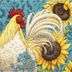"""Rooster Counted Cross Stitch Kit-6""""X6"""" 18 Count"""