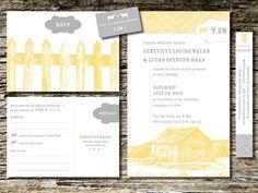 Barn Wedding Invitations by huntandgatherpaper on Etsy