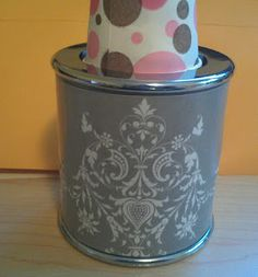 Mod Podge Sbook Paper Dixie Cup Dispenser Super Easy Diy Project