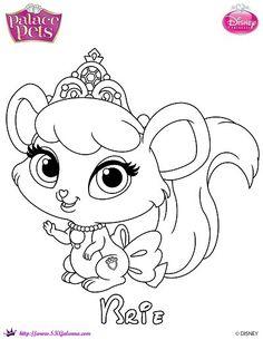 Free Princess Palace Pets Coloring Page of Brie   SKGaleana