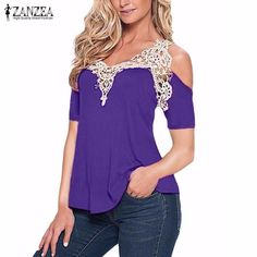 Off Shoulder Lace Long Sleeves Top