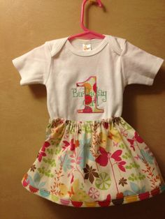 First Birthday Girl onesie and skirt. $22.00, via Etsy.