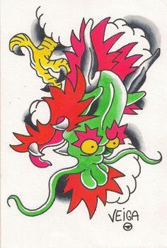 @veigatattooer #art #artist #paint #painting #paintings #watercolor #watercolorpainting #spitshade #spitshaded #flash #tattooflash #artigram #instagood #instagreat #photooftheday #picoftheday #iphonesia #follow #support #like #tat #tattoo #tattoos #greatart #likersgonnalike