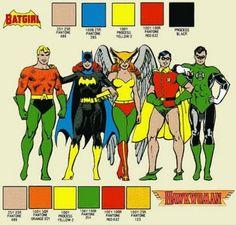 Batgirl - Mera - Batwoman: Batgirl and Hawkgirl Color Palette