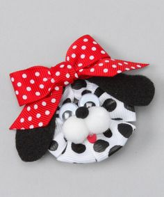 Take a look at this Red & Black Dalmatian Clip by Picture Perfect Hair Bows on #zulily today!