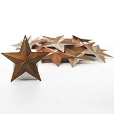 Dollhouse Décor - Factory Direct Craft Package of 50 Rusted Tin Dimensional Miniature Barn Stars with Hole and Hollow Backs -- Find out more about the great product at the image link.