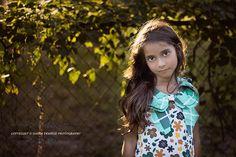 Child photography, little girl, sunset