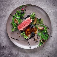 "Gastro Art on Instagram: ""Lamb ramp with ramson, black garlic & pickled onion. Dish by @vladelo. Photograph by @andreykulpin #gastroart"""