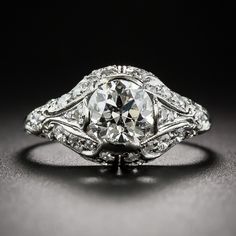 Shreve & Co. 1.07 Carat GIA I-SI1 Art Deco Engagement Ring. From San Francisco's oldest and most celebrated retail jeweler, since the days of the Gold Rush, comes this extraordinary Art Deco jewel, artfully hand crafted in platinum - circa 1925. A bright white and sparkling European-cut diamond, weighing 1.07 carat...