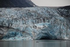 Glacier in Alaska, photo taken from the ship. Holland America cruise to Alaska. Fantastic