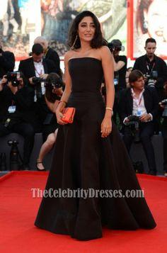 Golshifteh Farahani Black Formal Dress 2013 Venice Film Festival Red Carpet $168.89