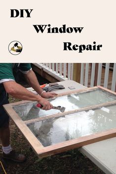 Get free woodworking tutorials and project ideas fit for beginner and advanced skill sets. Learn about common tools, woodworking techniques and more. Woodworking Tutorials, Woodworking Techniques, Old Window Panes, Window Frames, Window Repair, Diy Home Repair, Old Windows, Home Upgrades, Reno