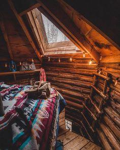 Birch ladder loft with a morning light alarm clock