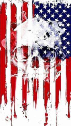 Skull flag wallpaper by - - Free on ZEDGE™ American Flag Wallpaper, American Flag Art, Skull Flag, Skull Pictures, Punisher Skull, Skull Artwork, Skeleton Art, Skull Wallpaper, Skull Tattoos