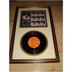 Elvis Presley Limited Edition Framed Way Down Record and Stamps Wall Display