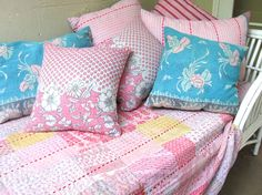 Pastel Print Quilts from India @ Sally Campbell, Handmade Textiles - News