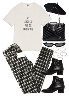 """Untitled #11692"" by nikka-phillips ❤ liked on Polyvore featuring Forever 21, Yves Saint Laurent, Isabel Marant and Gucci"