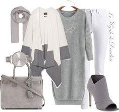 Robes à taille haute basse €16 – shein.com Zara poncho €37 – zara.com Barbour International jeans blanc €90 – outdoorandcountry.co.uk Charles David bottes bass €94 – neimanm…