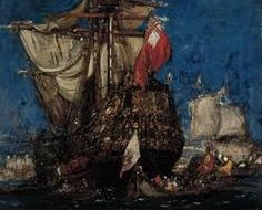 Afbeeldingsresultaat voor Frank Brangwyn Traditional Paintings, William Morris, Illustration, Artist, Sailing, Ships, Candle, Boats, Illustrations