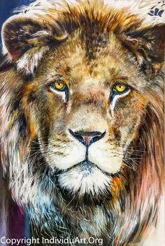 Lion of Judah Oil Painting 118 x 172 cm