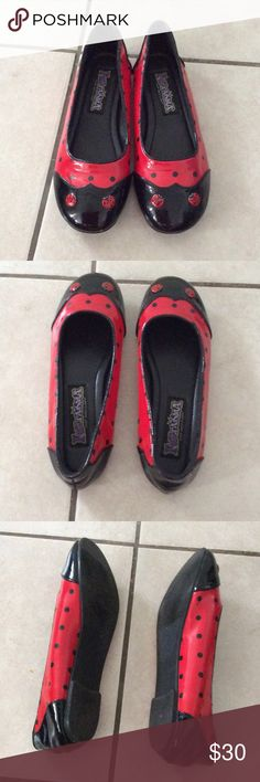 Funtasma Lady bug ballet flats size 6 It has a slight scratches, still in very good condition Funtasma Shoes Flats & Loafers