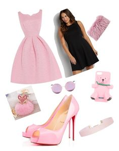 """""""pinklover"""" by bosslana ❤ liked on Polyvore featuring beauty, Privé, Mr & Mrs Italy, Moschino, Humble Chic, Matthew Williamson and maurices"""