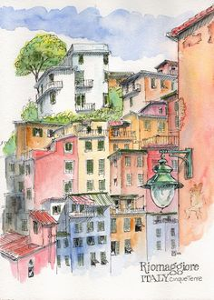 Exploring the Cinque Terre by boat | Urban Sketchers