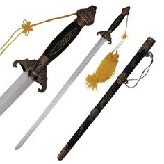 5c371b146 Overall Length Tai Chi Sword. Includes Dragon Engraved Scabbard And  Intricate Metal Parts
