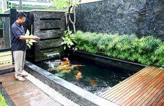 7 Exciting Fish Pond Design For Small Backyard Ideas - Alles über den Garten Fish Ponds Backyard, Backyard Water Feature, Garden Pool, Backyard Ideas, Pond Ideas, Small Fish Pond, Koi Fish Pond, Small Ponds, Koi Pond Design