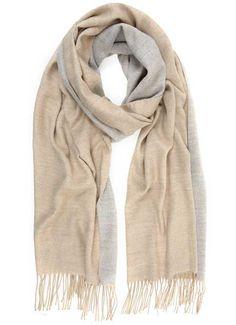 Camel & Grey Blanket Scarf
