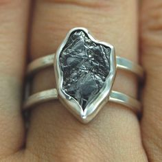 Engagement ring in meteorite :) How cool would it be to always be in contact with something that was actually among the stars?