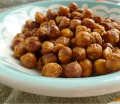 Mine r in the oven now.  Roasted Garbanzo Bean Recipe: Frugal, crunchy, healthy snack food