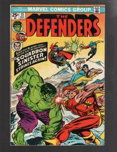 THE DEFENDERS #13 HULK, DOCTOR STRANGE, SUB-MARINER, MARVEL COMICS